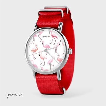 Watch - Flamingos, Red, nato