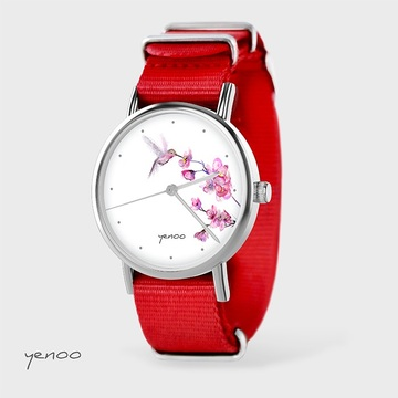 Watch - Hummingbird, Red, nato