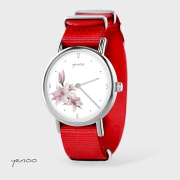 Watch - Lily, Red, nylon