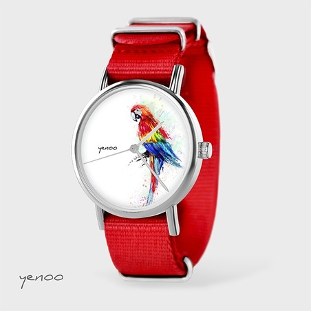 Watch - Parrot, Red, nato
