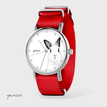 Watch - Rabbit, Red, nylon