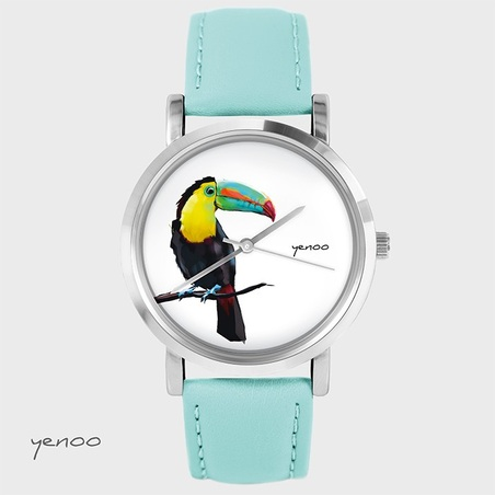 Zegarek, bransoletka - Tukan - turkusowy