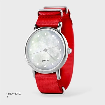 Watch - Grey, Red, nato