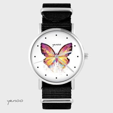 Watch - Butterfly, Black,...