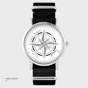 Watch - Compass, Black, nylon
