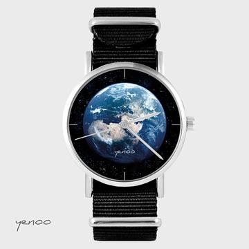 Watch - Earth, Black, nylon