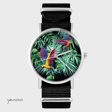Watch - Parrots, Black, nato