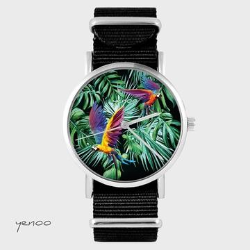 Watch - Parrots, Black, nylon