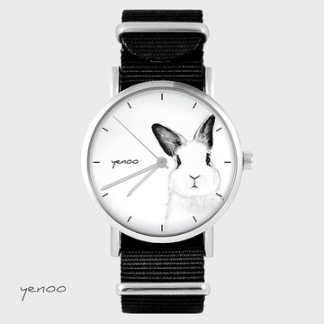 Watch - Rabbit, Black, nylon