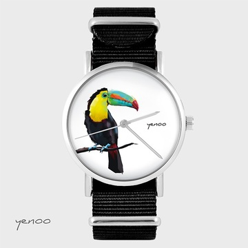 Watch - Toucan, Black, nato