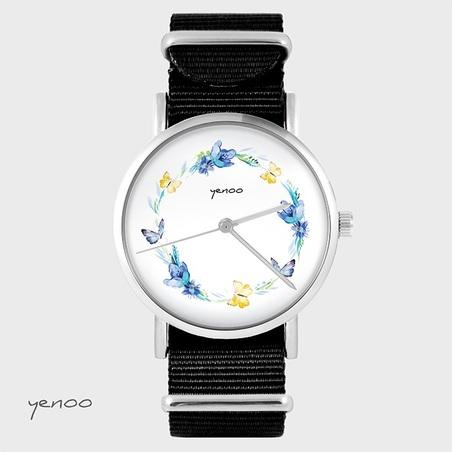 Watch - Wreath, Black, nylon