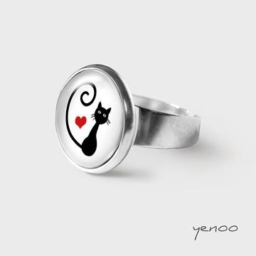 Ring - cat, heart