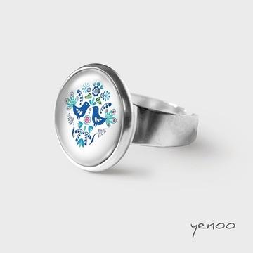 Ring - Folk blue birds