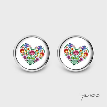 Earrings with graphics -...