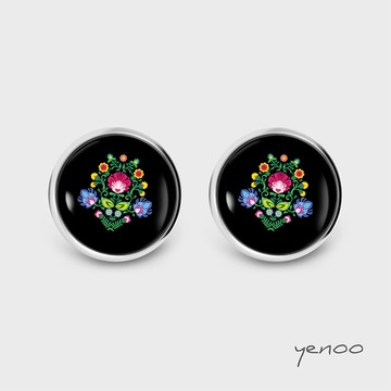 Earrings with graphics - Folk