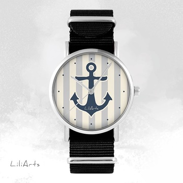 Watch - Anchor, Black, nato