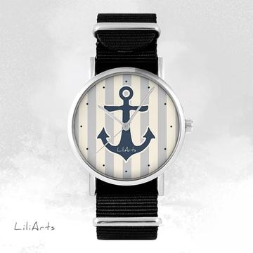 Watch - Anchor, Black, nylon