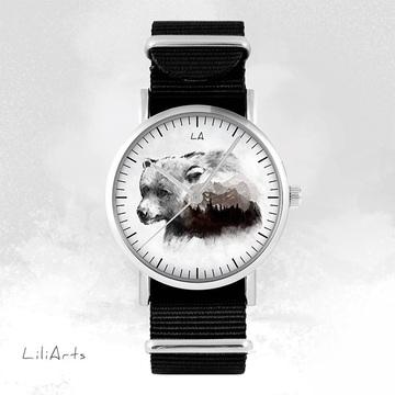 Watch - Bear, Black, nylon