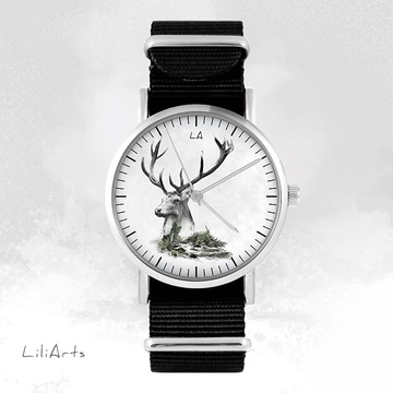 Watch - Stag, Black, nato