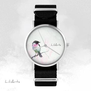 Watch - Bird, Black, nylon