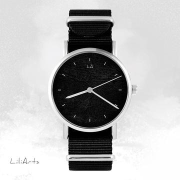 Watch - Black, Black, nylon