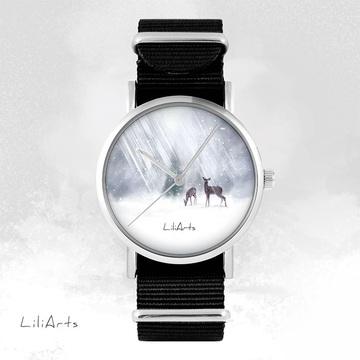 Watch - Deers, Black, nylon
