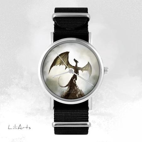 Watch - Shadow dragon, Black, nylon