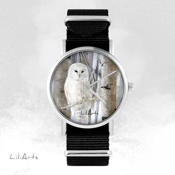 Watch - Owl, Black, nylon
