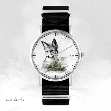 Watch - Fox, Black, nylon