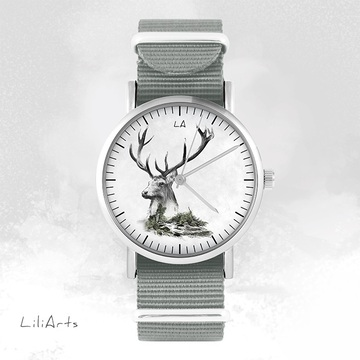 Watch - Stag, Grey, nylon