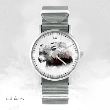 Watch - Bear, Grey, nylon