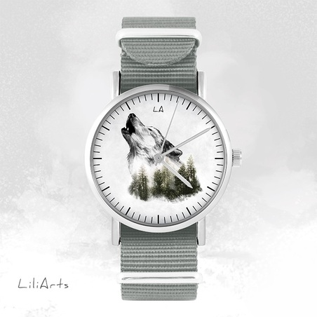 Watch - Wolf, Grey, nylon