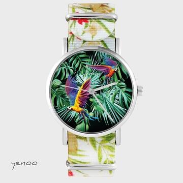 Watch - Parrots, Flowers,...