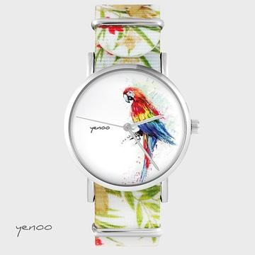 Watch - Parrot, Flowers, nylon