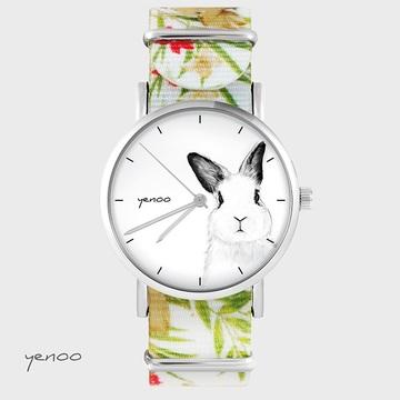 Watch - Rabbit, Flowers, nylon