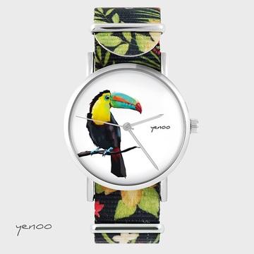 Watch - Toucan, Flowers -...