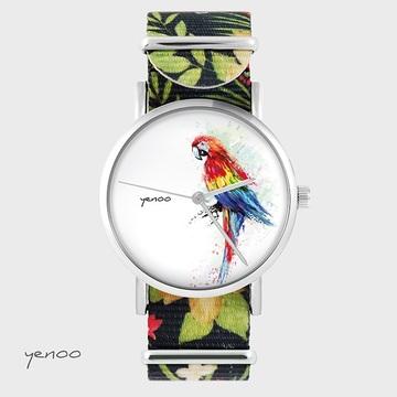 Watch - Parrot, Flowers -...
