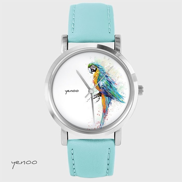 Fashion watch, Bracelet - Turquoise parrot- turquoise
