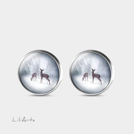 Deers - stud earrings