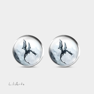 Dragon - stud earrings