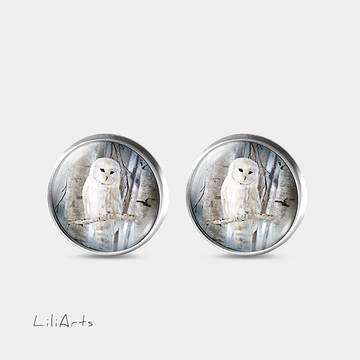 Owl - stud earrings