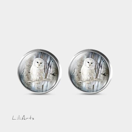 Owl - stud earrings