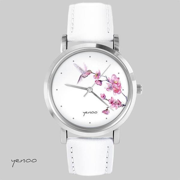 Zegarek, bransoletka - Koliber.oznaczenia - biały