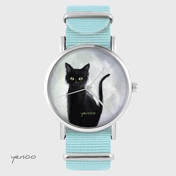 Watch - Cat, Blue, nylon