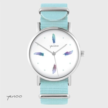 Watch - Turquoise Feathers,...