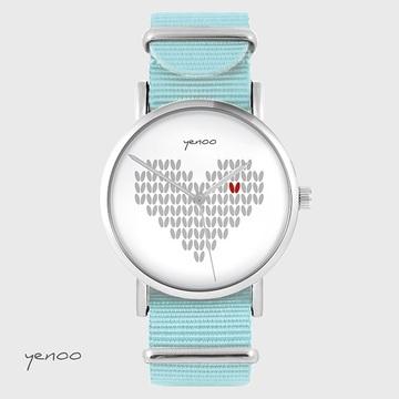 Watch - Knitted heart,...
