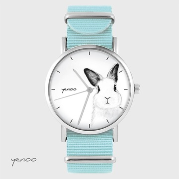 Watch - Rabbit, Blue, nylon