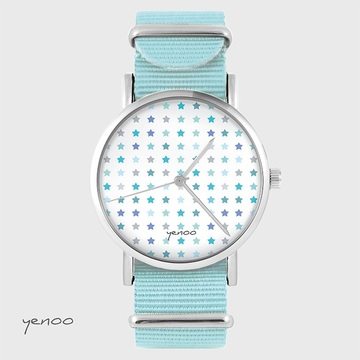 Watch - Stars, Blue, nylon