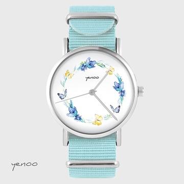 Watch - Wreath, Blue, nato