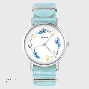 Watch - Wreath, Blue, nylon